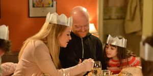 Abi Branning and Max Branning spend Christmas with the Fowlers in EastEnders
