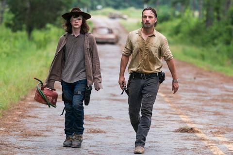 Carl Grimes, Rick Grimes, The Walking Dead, Season 8, episode 8