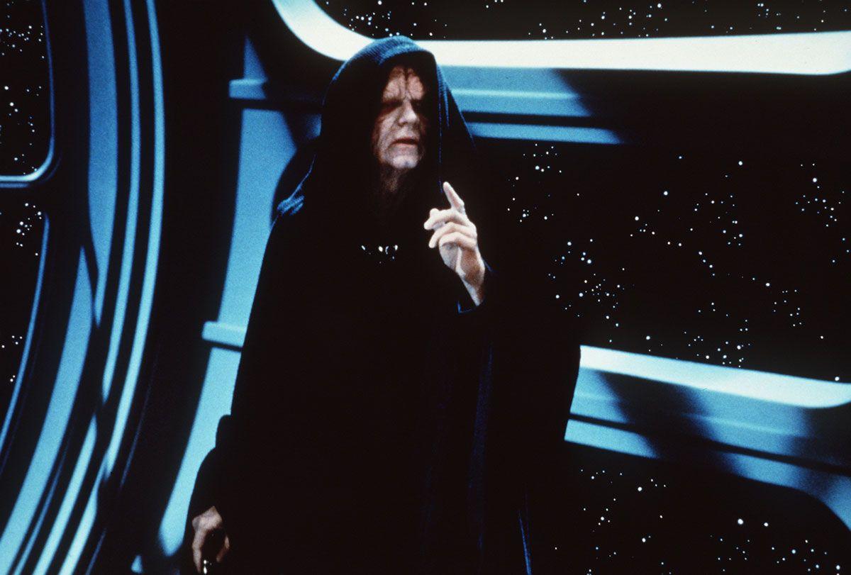 Ian McDiarmid as Emperor Palpatine in Star Wars Return of the Jedi
