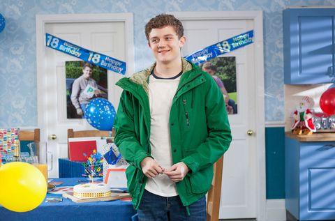Tom Cunningham celebrates his 18th birthday in Hollyoaks