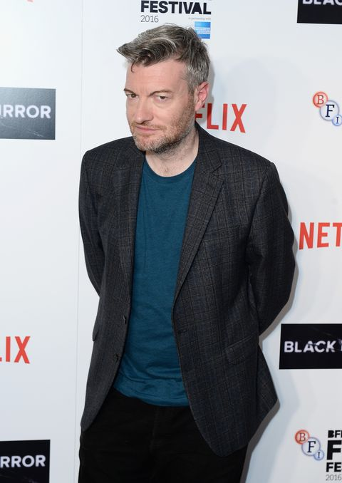 Charlie Brooker promoting 'Black Mirror'