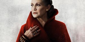 Carrie Fisher as General Leia Organa in Star Wars: The Last Jedi poster