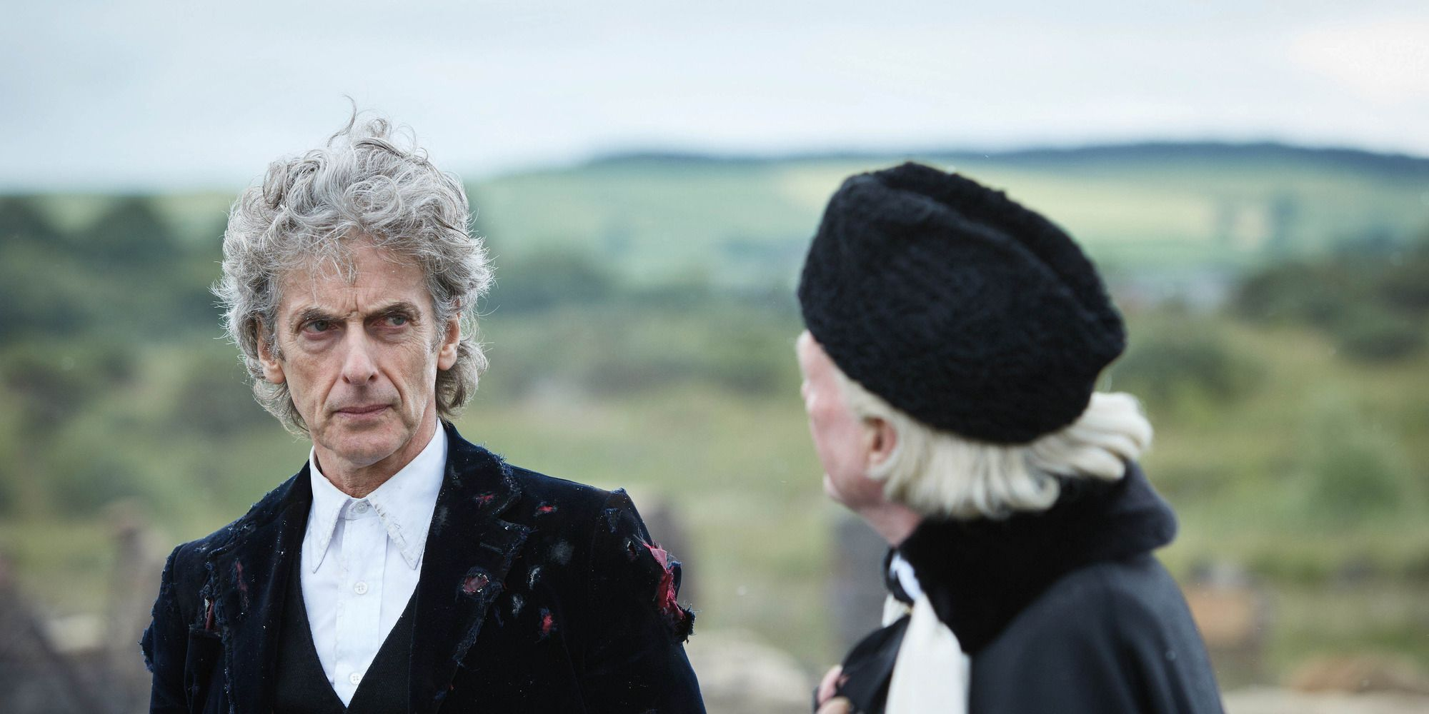 Peter Capaldi and David Bradley in 'Doctor Who: Twice Upon a Time'