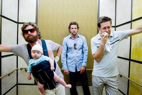 Bradley Cooper, Ed Helms, Zach Galifianakis, Grant Holmquist, The Hangover, Baby