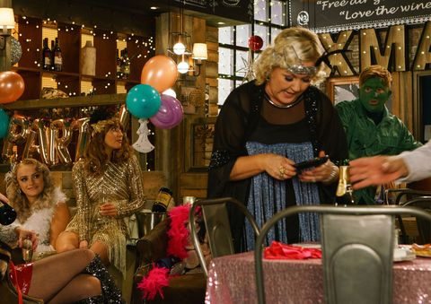 Chesney Brown and Beth Tinker clash at the Bistro in Coronation Street