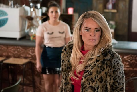 Esther Bloom and Grace Black get terrorised at The Bean in Hollyoaks