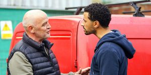 Luke Britton confronts Pat Phelan about his lies in Coronation Street