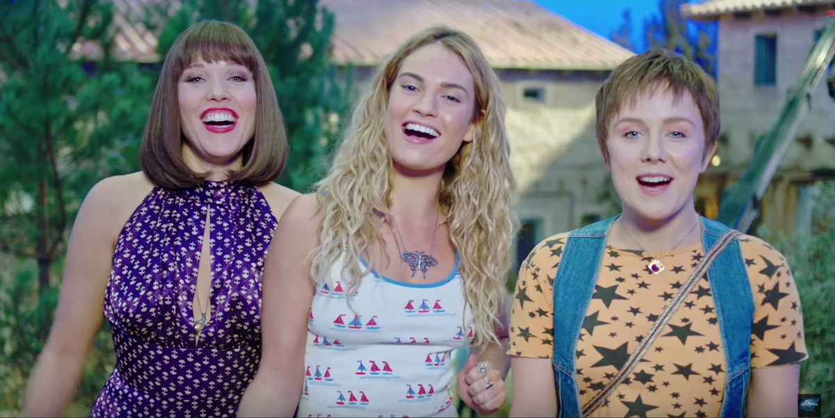 """Mamma Mia's Lily James says playing a younger Meryl Streep made her """"wince"""""""