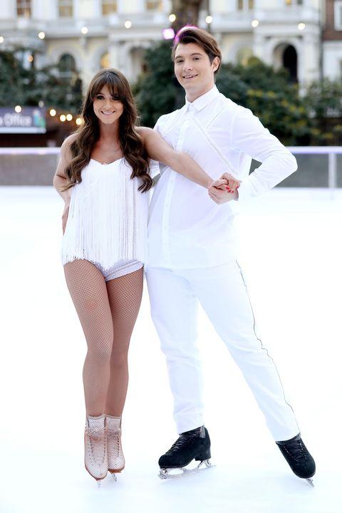 White, Beauty, Fashion, Footwear, Smile, Leg, Uniform, Photography, Recreation, Sleeve,