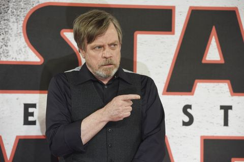 Mark Hamill during the 'Star Wars: The Last Jedi' photocall