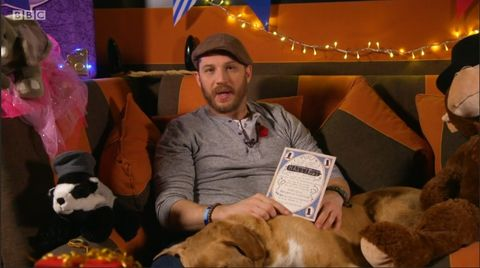 Tom Hardy reading a bedtime story is all you need to see today