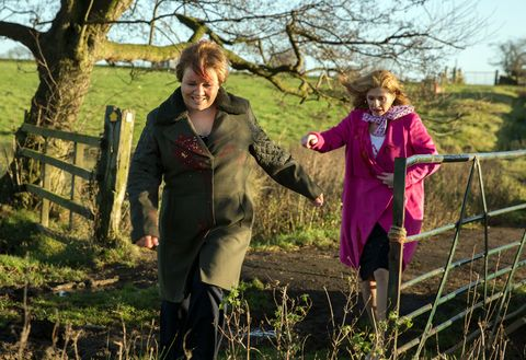Brenda Walker follows a trail of clues left by Bob Hope in Emmerdale