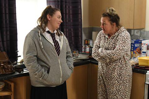 Karen Taylor struggles for money in EastEnders