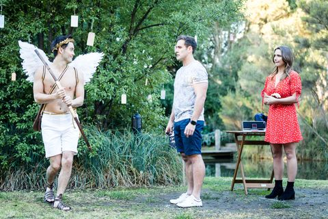 David Tanaka proposes to Aaron Brennan in Neighbours