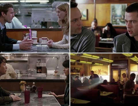 The Quality Cafe, Sets that show up in multiple movies