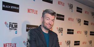 Charlie Brooker promoting 'Black Mirror' on Netflix