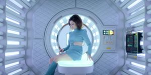 Cristin wakes up in the medical bay, Black Mirror, USS Callister