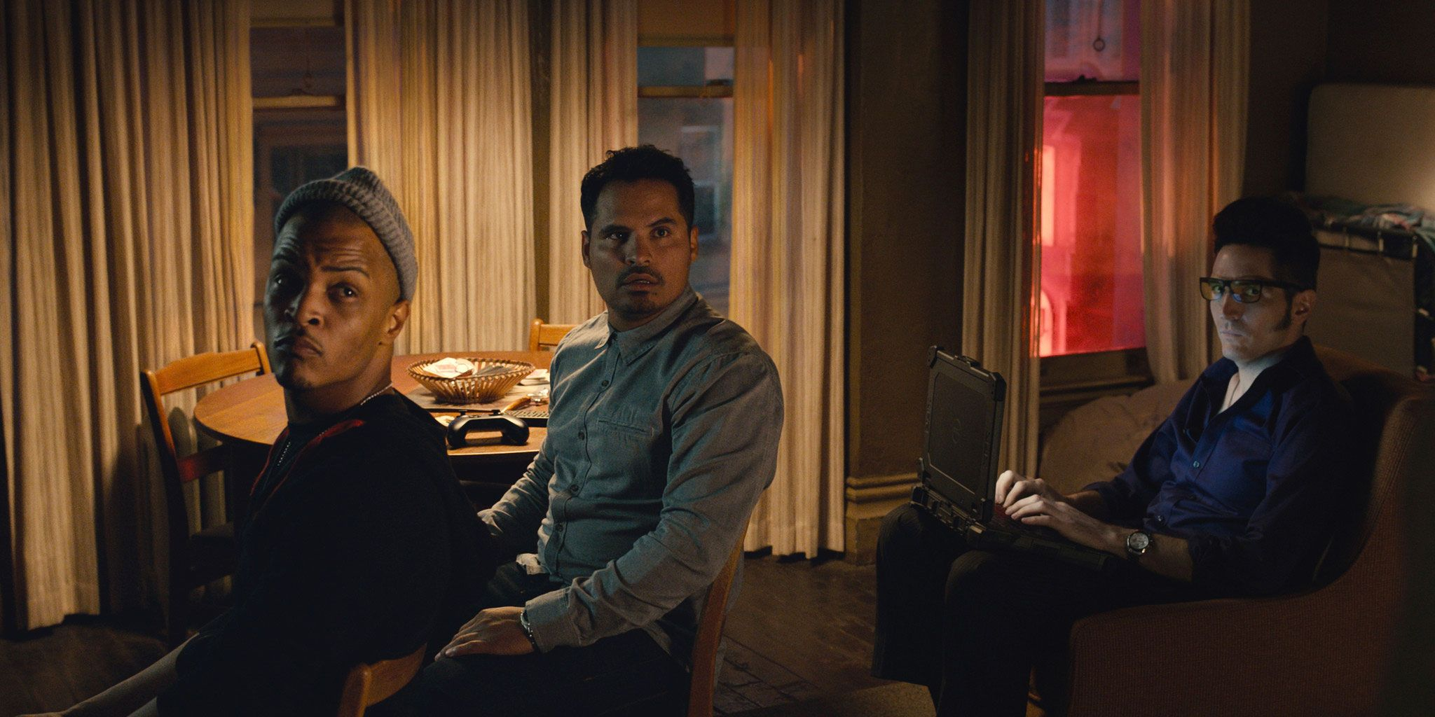 Ant Man, Dave played by T.I., Luis played by Michael Pena, Kur played by David Dastmachian
