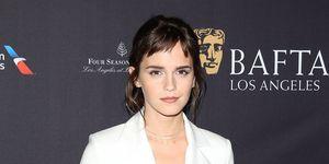 Emma Watson arrives at The BAFTA Los Angeles Tea Party at Four Seasons Hotel Los Angeles