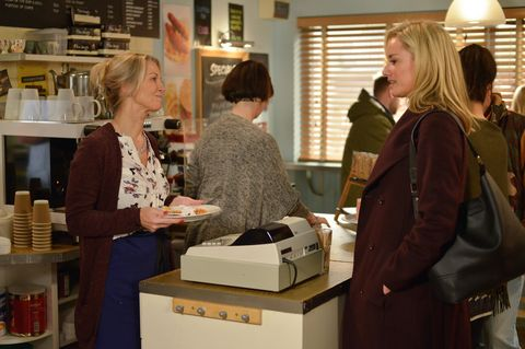 Mel Owen talks to Kathy Beale in EastEnders