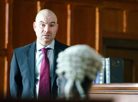Tim Metcalfe gives evidence in court in Coronation Street
