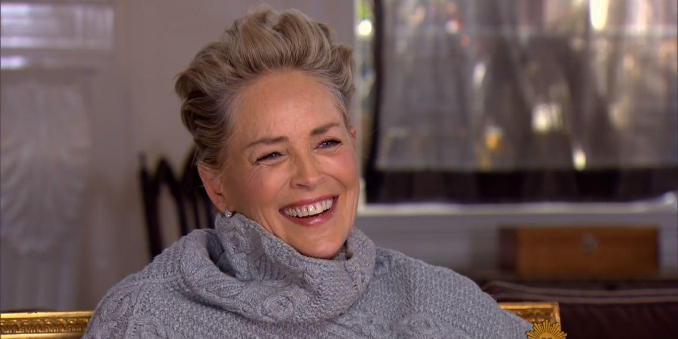 Sharon Stone on CBS Sunday