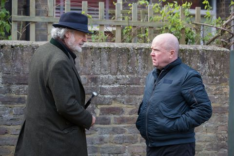 Aidan Maguire confronts Phil Mitchell in EastEnders