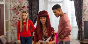 Goldie McQueen finds out about Prince and Peri's baby in Hollyoaks