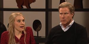 Kate McKinnon and Will Ferrell