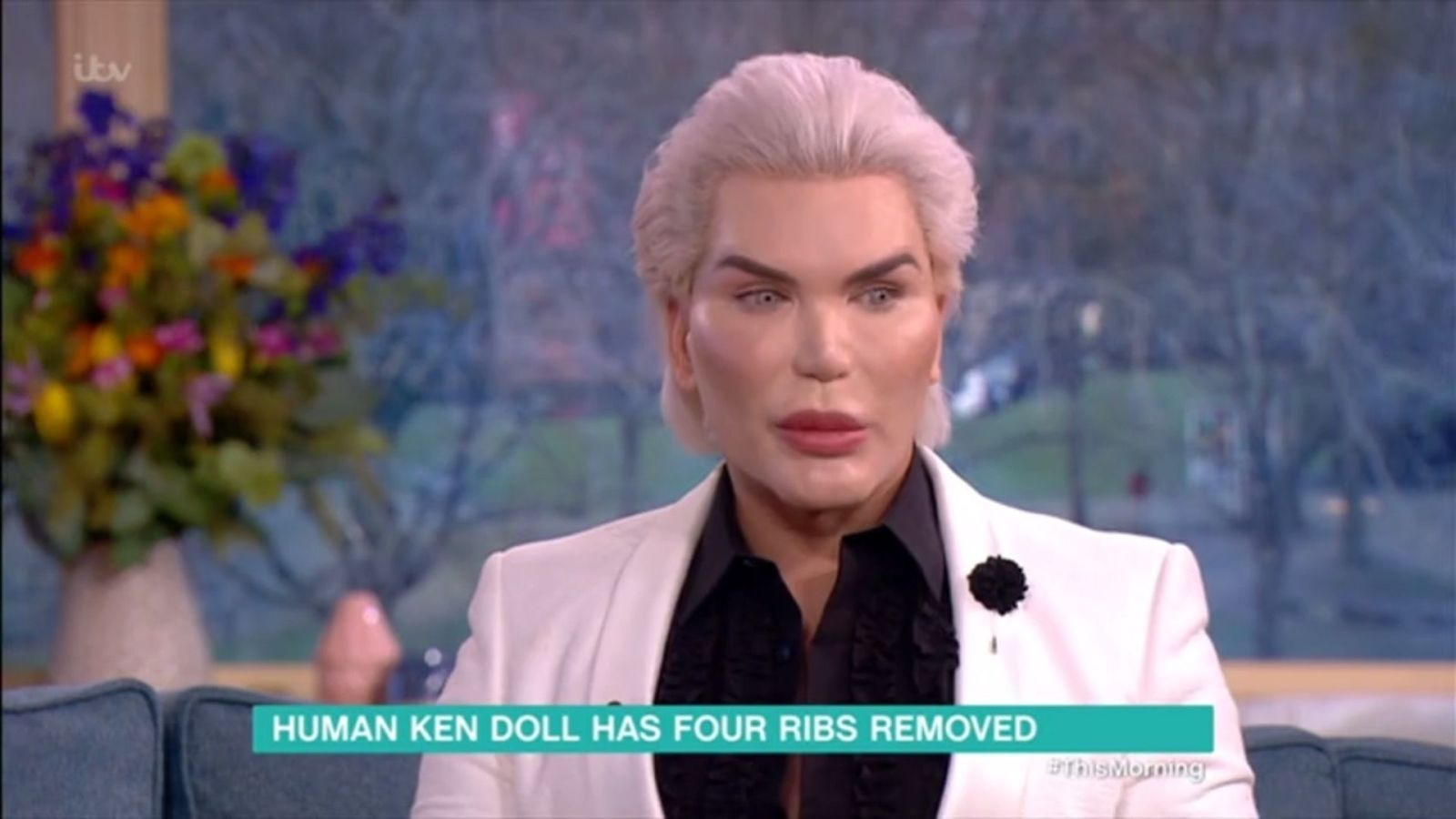 'Human Ken Doll' Rodrigo Alves says he has had four ribs removed in his quest for the 'perfect' body