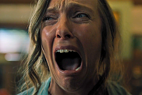 Toni Collette as Annie Graham in Hereditary in Ari Aster's Hereditary 2018.