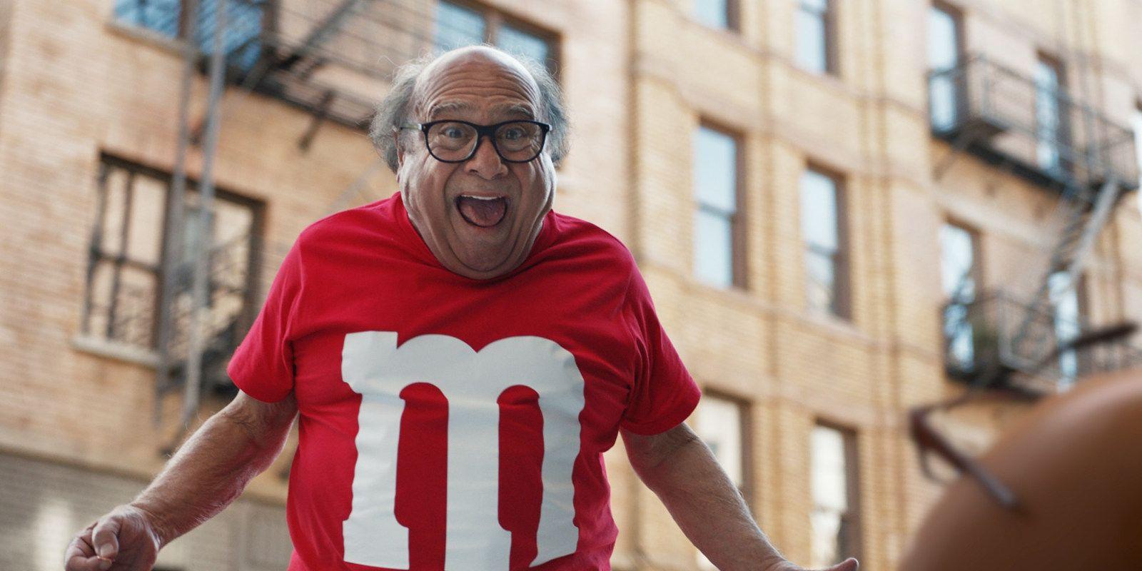 Danny DeVito in M&Ms Super Bowl commercial