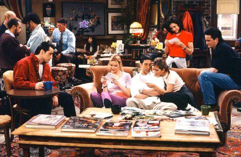 Friends, Central Perk coffee shop, Joey, Phoebe, Ross, Rachel, Monica, Chandler