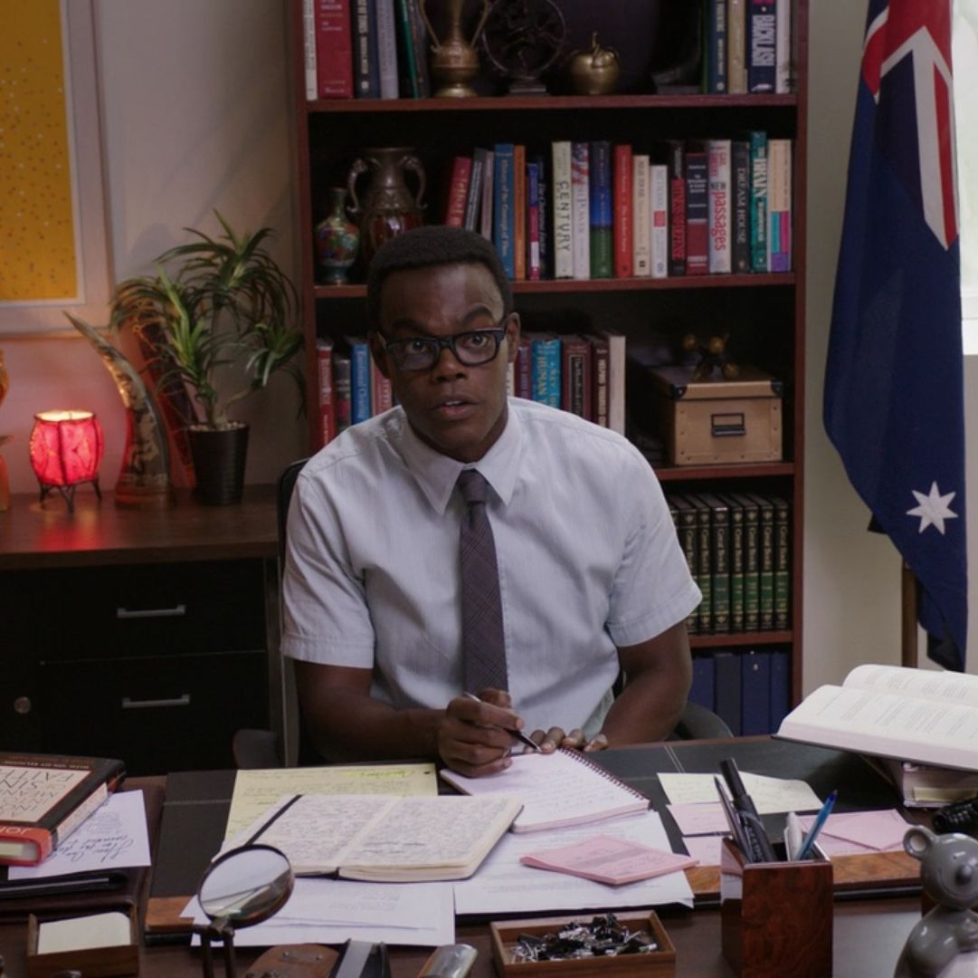 The Good Place creator finally reveals why Chidi is so buff