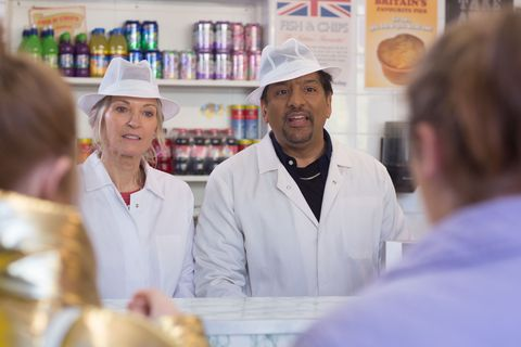 Masood Ahmed gets ready to sell samosas in EastEnders