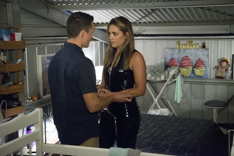 Jack Callahan and Paige Smith give into temptation in Neighbours