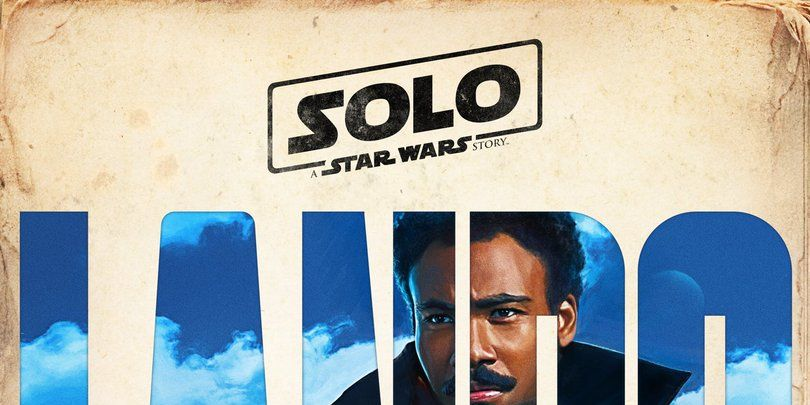 Donald Glover as Lando Calrissian in Solo: A Star Wars Story poster