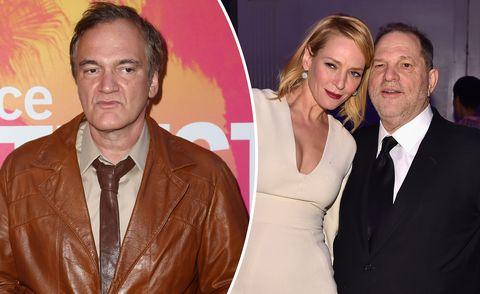 Quentin Tarantino, Uma Thurman, Harvey Weinstein