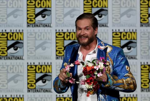 Hannibal executive producer/creator Bryan Fuller carries a flower crown