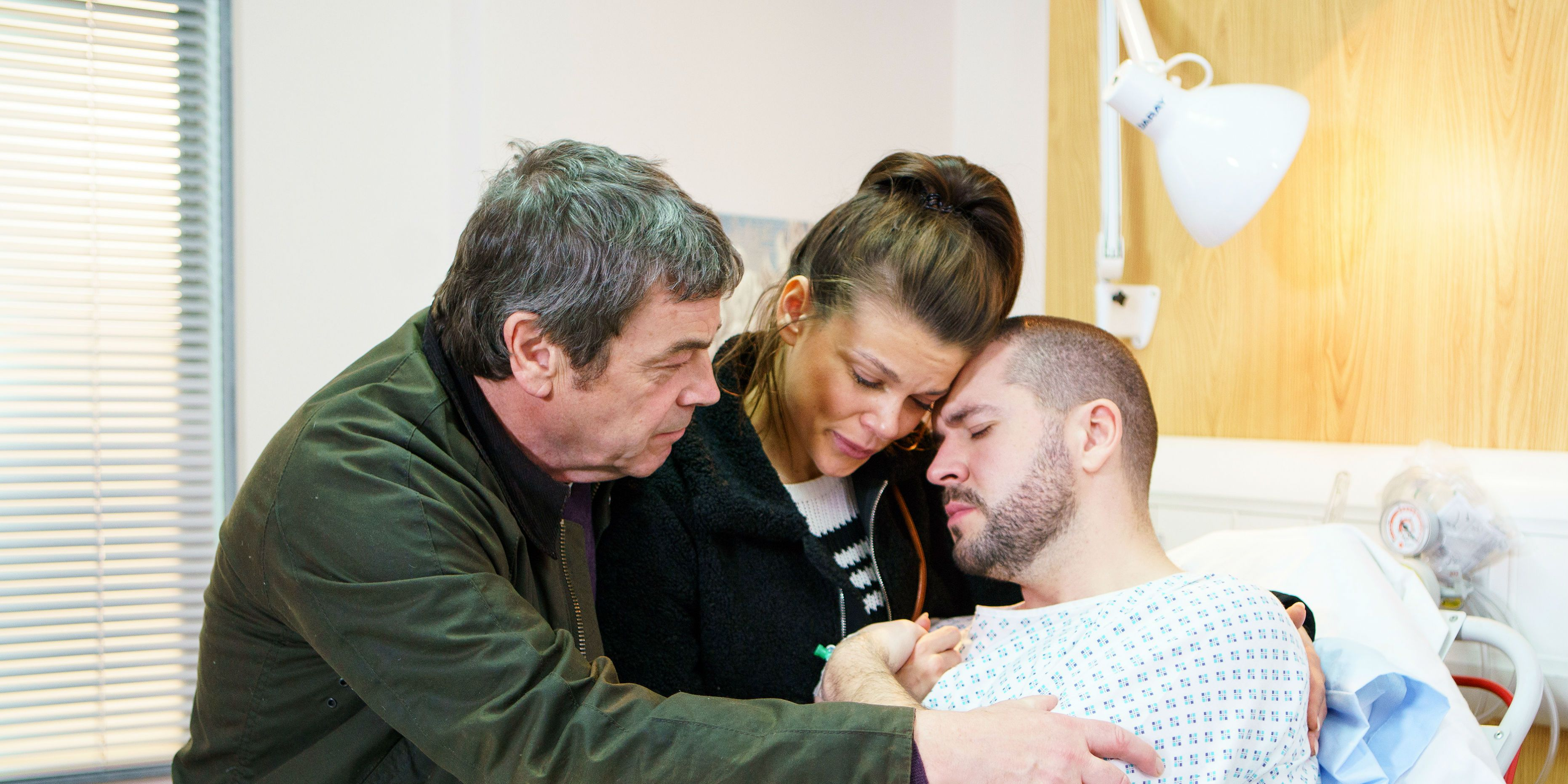 Aidan Connor in hospital in Coronation Street