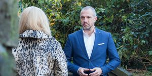 Esther Bloom interrupts Glenn Donovan and Grace Black's proposal in Hollyoaks
