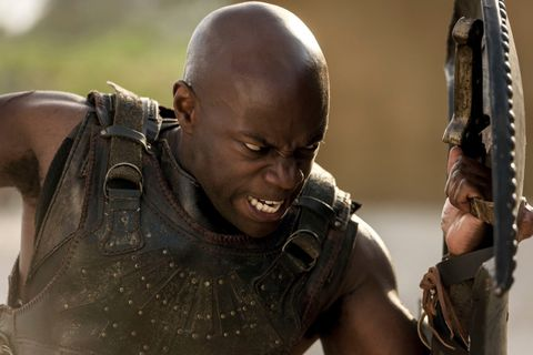 Yes, Achilles in Troy: Fall of a City is black, and yes it's