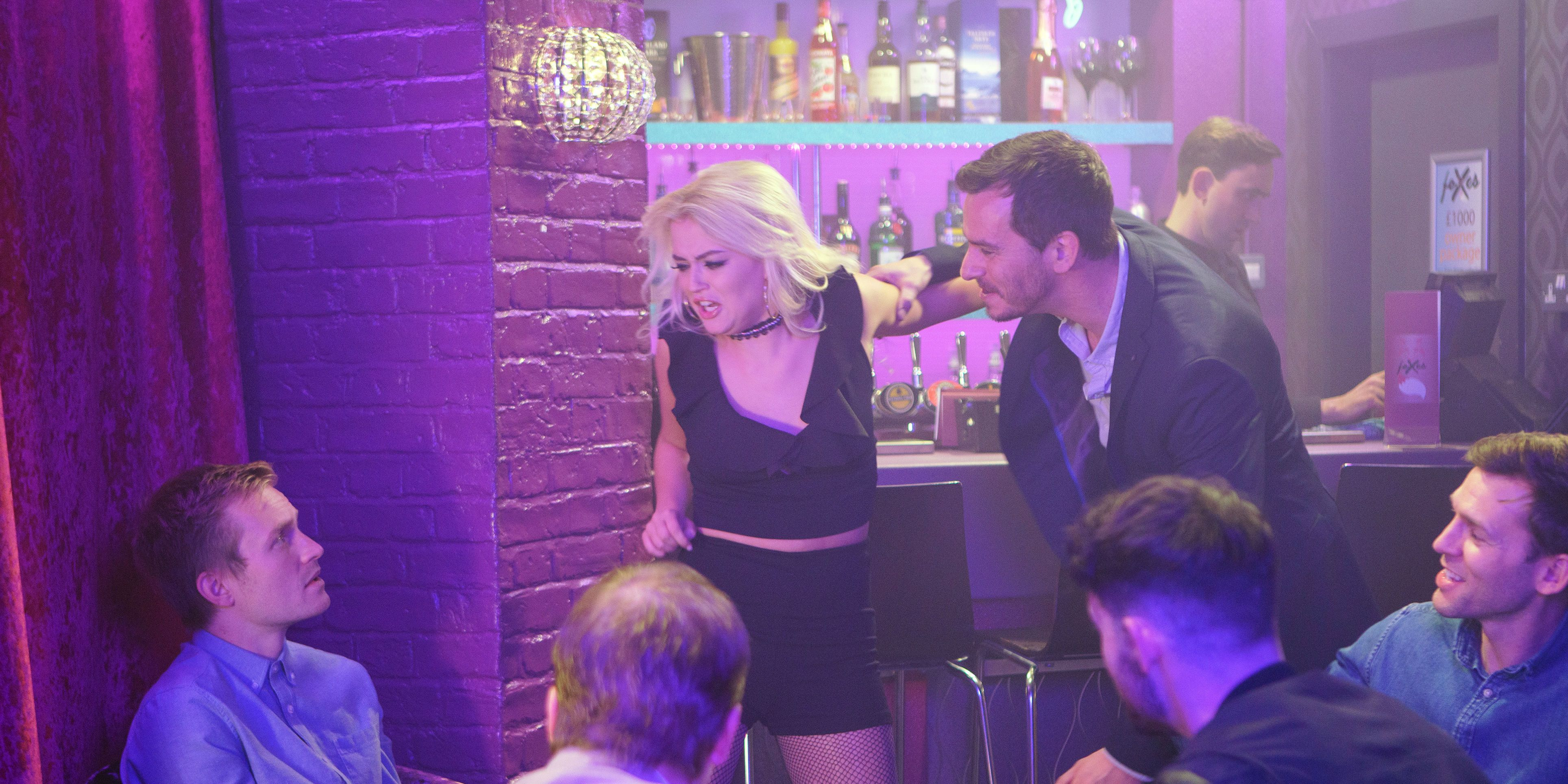 Bethany Platt lashes out after returning to lap-dancing in Coronation Street
