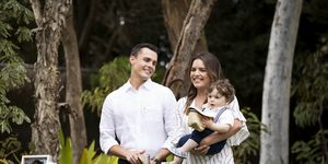 Baby Gabe's naming day in Neighbours
