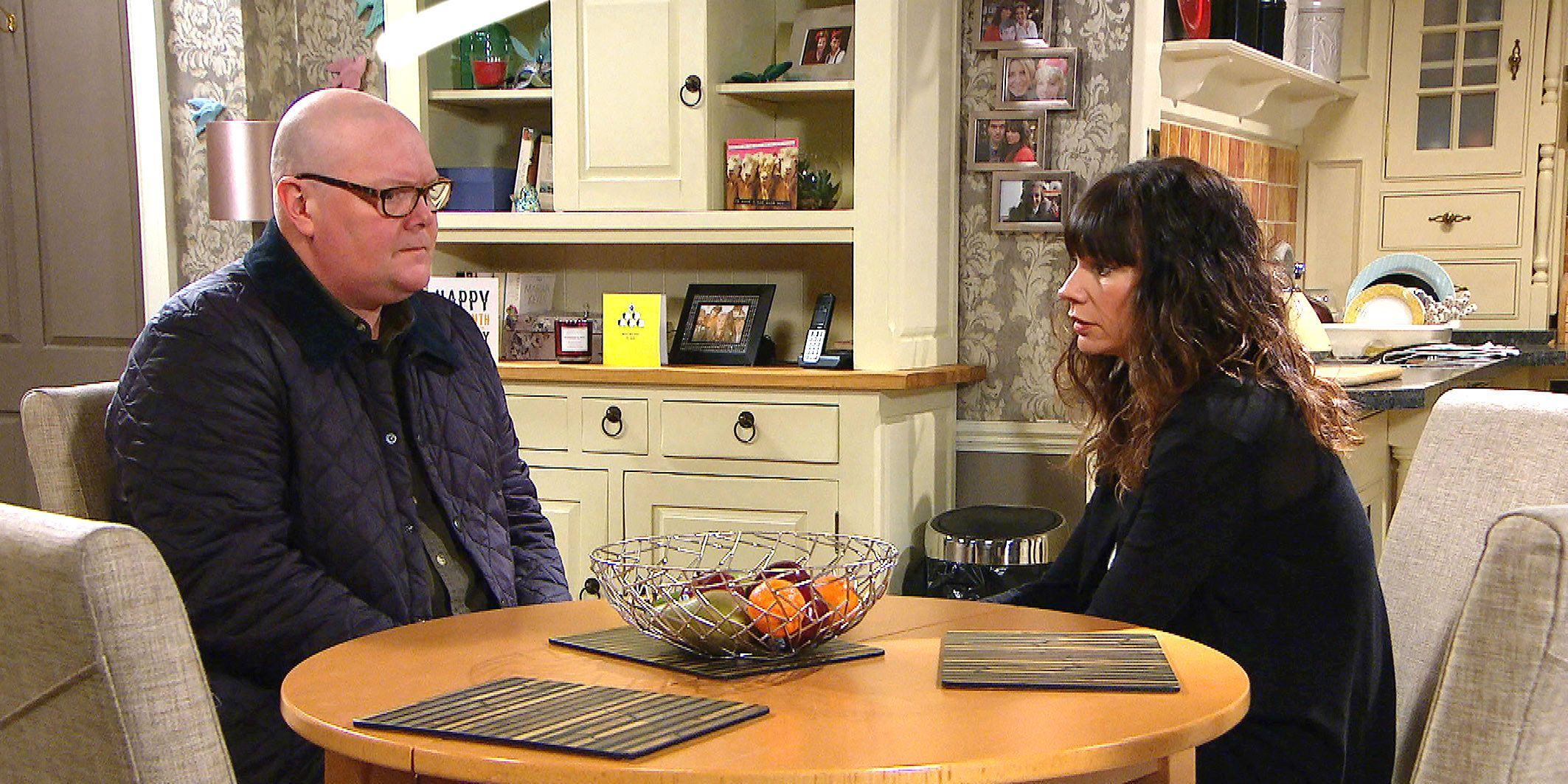 Paddy Kirk and Chas Dingle in Emmerdale