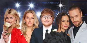 Holly Willoughby, Ellie Goulding, Ed Sheeran, Cheryl, Liam Payne, BRIT Awards 2018