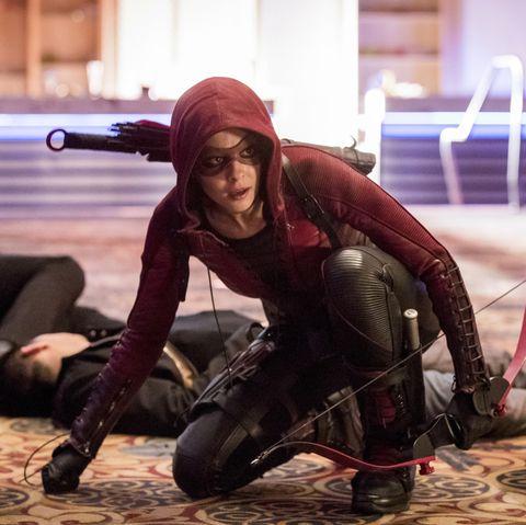 Willa Holland as Thea Queen/Speedy in Arrow season 6