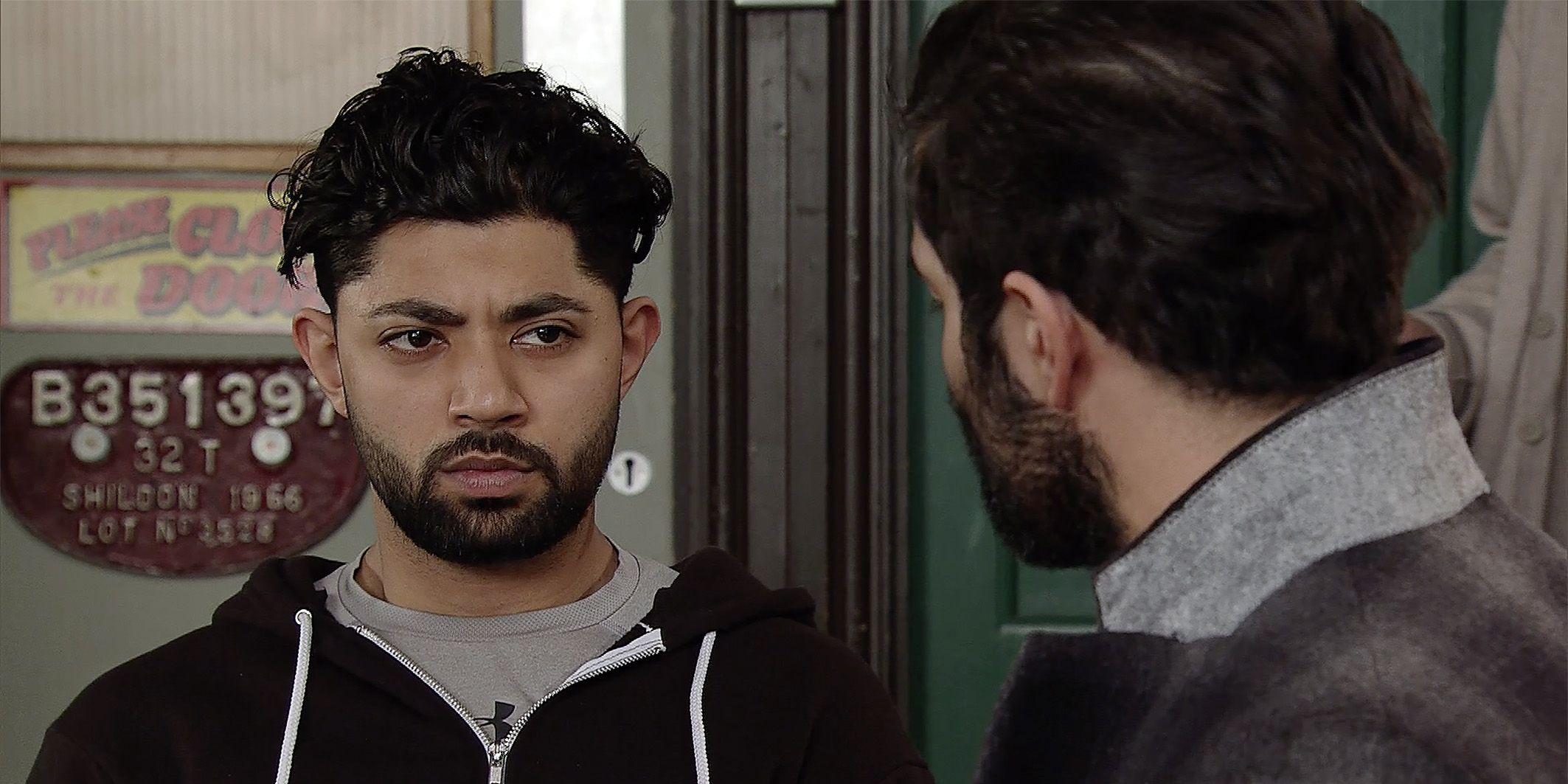 Imran Habeeb feels sorry for Zeedan Nazir in Coronation Street