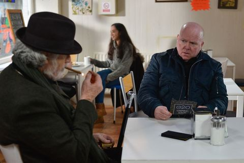 Aidan Maguire quizzes Phil Mitchell in EastEnders