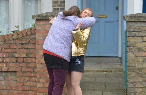 Bernadette Taylor and Tiffany Butcher try to be friends in EastEnders